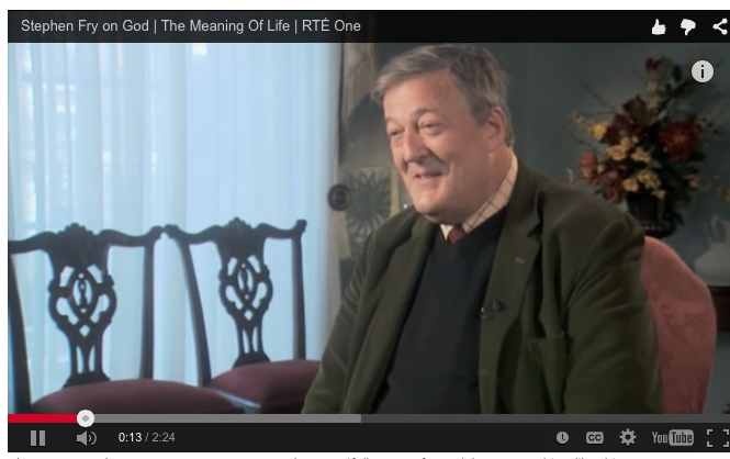Stephen Fry and a Capricious God